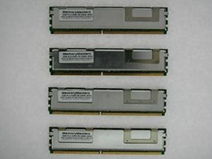 Memorymaster 8GB Kit (4x2GB) Fully Buffered Memory Ram for DELL SERVERS AND WORKSTATIONS. Dell PowerEdge 1900 1950 1950 III 1955 2900 2900 III 2950 2950 III M600 R900 SC1430 T110 PowerVault NF500 NF600 NX1950 Workstation 690 (750W Chassis) Precision Workstation 490 Precision Workstation 690 (1KW Chassis) 690n (1KW Chassis) and (750W Chassis) R5400 64bit R5400 N-Series T5400 T7400 Studio Hybrid 140G PC2-5300 DDR2 ECC FB DIMM Fully Buffered Server Memory