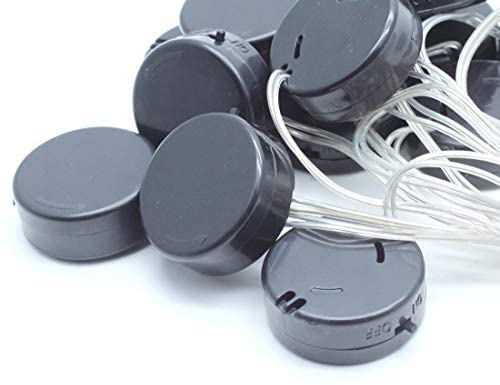 Mecion 15 PCS Wire Lead Type 3V On/Off Switch Cover CR2032 Coin Cell Button Plastic Battery Holder Case Box
