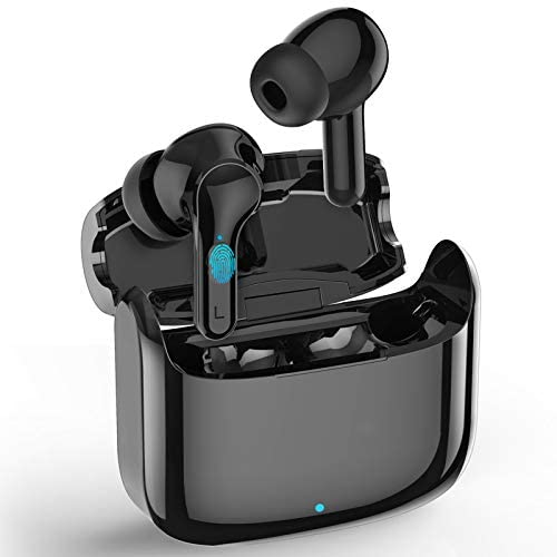 Wireless Earbuds, Bluetooth 5.0 Headphones in-Ear with HD Mic, HiFi Stereo Sound Earphones, Hands-Free Headset with Noise Cancellation, Touch Control, IPX7 Waterproof, 24H Playtime for Work/Travel/Gym