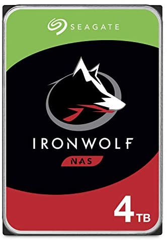 Seagate IronWolf 4TB NAS Internal Hard Drive HDD – CMR 3.5 Inch SATA 6Gb/s 5900 RPM 64MB Cache for RAID Network Attached Storage – Frustration Free Packaging (ST4000VNZ008/VN008)