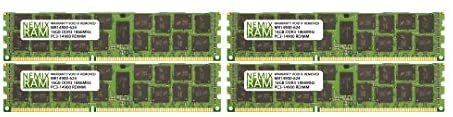 64GB (4x16GB) DDR3-1866MHz PC3-14900 ECC RDIMM 2Rx4 1.5V Registered Memory for Server/Workstation