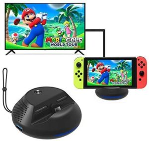 J&TOP Portable Charge TV Dock for Nintendo Switch,Replacement Dock with Electronic Chip for Nintendo Switch