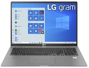 LG Gram Laptop – 17″ IPS WQXGA (2560 x 1600) Intel 10th Gen Core i7 1065G7 CPU, 16GB RAM, 1TB M.2 NVMe SSD (512GB x2), 17 Hour Battery, Thunderbolt 3 – 17Z90N (2020)