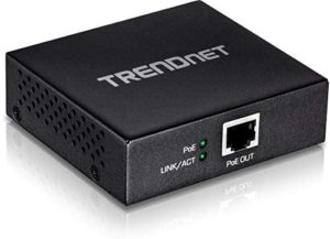 TRENDnet Gigabit PoE+ Repeater/Amplifier, TPE-E100, 1 x Gigabit PoE+ In Port, 1 x Gigabit PoE Out Port, Extends 100m for Total Distance Up to 200m (656 ft.), Supports PoE (15.4W) & PoE+ (30W), Black