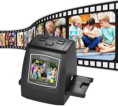 Aibecy Diascanner Negativscanner 14MP/22MP Filmscanner Convert 35mm 135mm 126mm 110mm 8mm Color Monochrome Slide Film Negative into Digital Picture with 2.4″ LCD Build-in Editing Software
