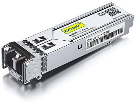 10Gtek für Netgear AGM731F 1G SFP SX Multimode Modul – 1000Base-SX Mini-Gbic Fibre Transceiver, Dual LC Connector, 850nm, 300-Meter