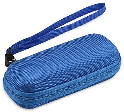 AGPTEK Tragetasche, Reise Tasche Case Hülle Etui, Eva Reißverschluss case für Digitalrekorder, 2.4 Zoll MP3 Player, USB Kabel, Earphones, Speicherkarten, U-Disk, Blau