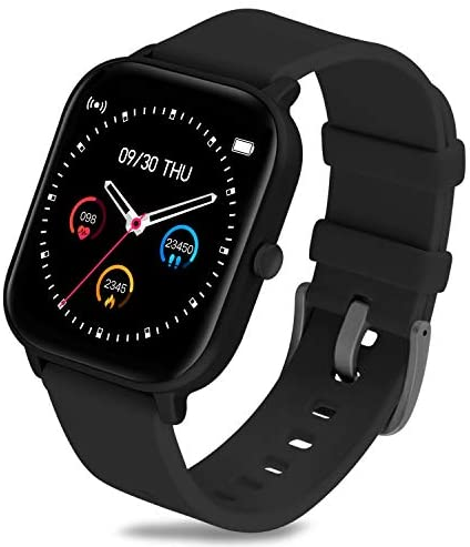 GerbGorb SmartWatch Android IOS Sportuhren Fitnesstracker 1.4″ Touch Screen Aktivitätstracker Pulsuhr IP67 Wasserdicht Uhr mit Schlafmonitor/Musiksteuerung Armbanduhr für Damen Herren